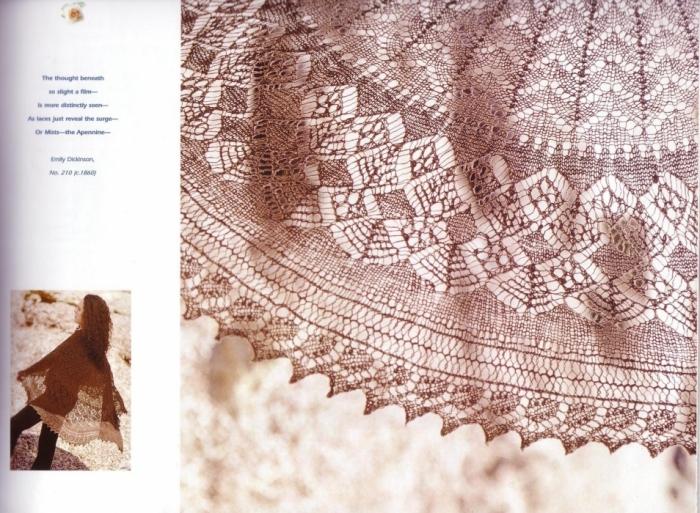 ажурная шаль спицами бесплатная схема - Выкройки одежды для детей и...