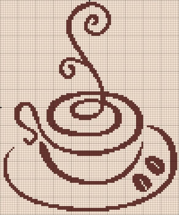 Подборка схем для вышивки крестом-чашка чая или кофе.Кому что по вкусу.