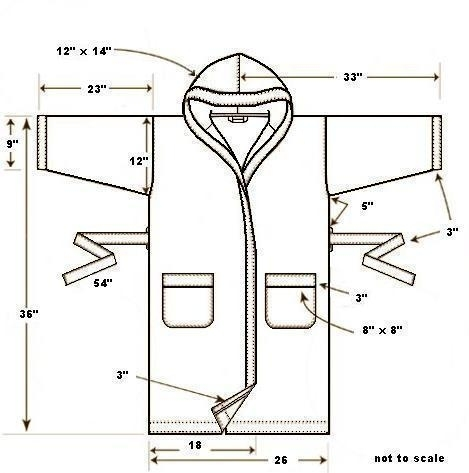 Банный халат для мужчины выкройка