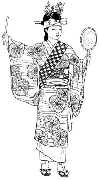 периодов рисунки японок в национальных костюмах курьер передает вам