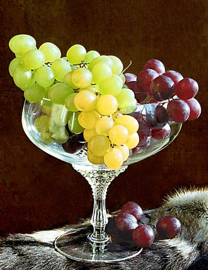 Виноград и оленья шкура - Раздел натюрморт - Фотография на фотосайте.