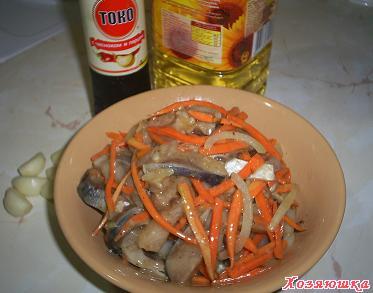 свой цитатник или сообщество!  Острая корейская закуска из сельди.