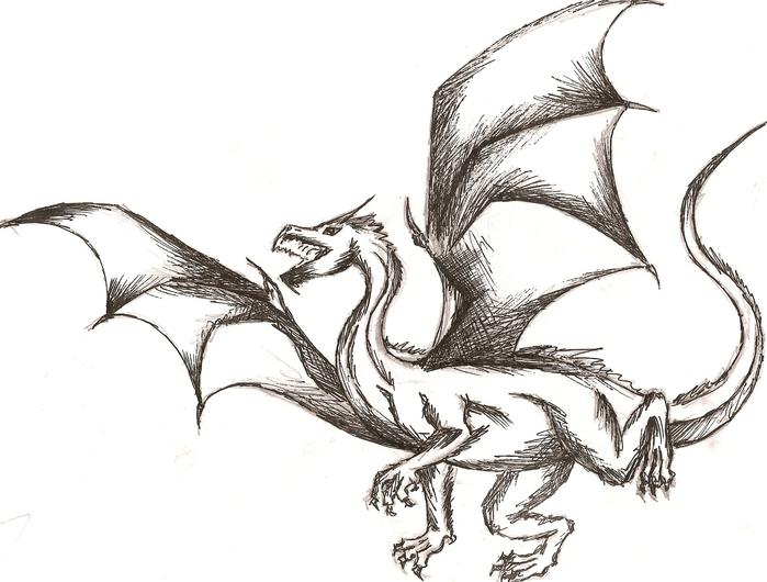 как драконы картинки карандашом не сложные здесь