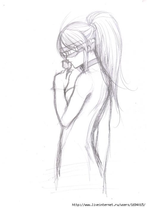 Рисунки карандашом девушки секси