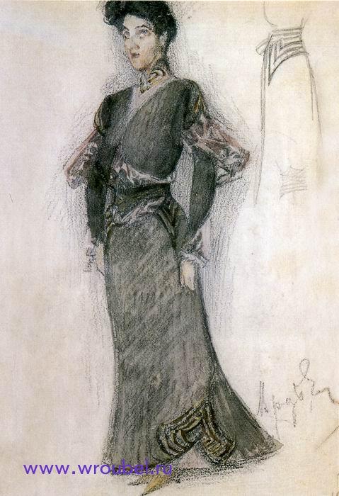 1905 Врубель М.А. Эскиз концертного платья для Н.И. Забелы-Врубель.