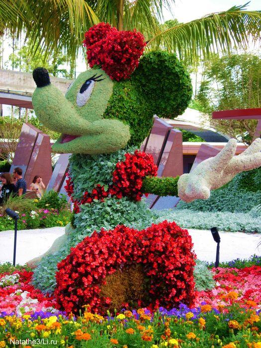 Герои диснеевских мультиков сделанные из цветов (15 фото)