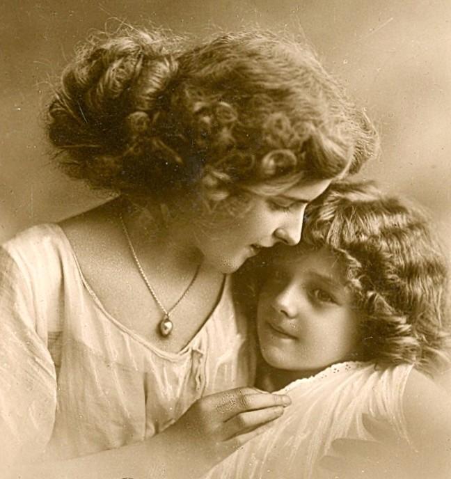 Открытки мать с дочкой, открытка марта