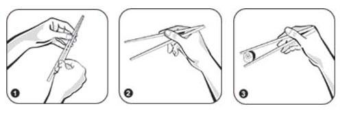 Как правильно есть японскими палочками