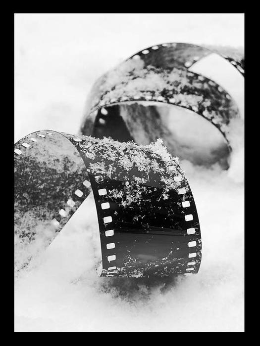 Как сделать черно белую пленку фото