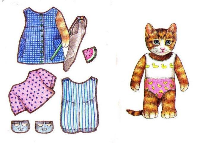 Cats paper dolls 43 / Бумажные куклы / Детские раскраски, лабиринты и...