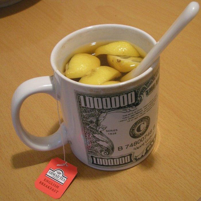 нее картинка чай с лимоном денег этой одежде