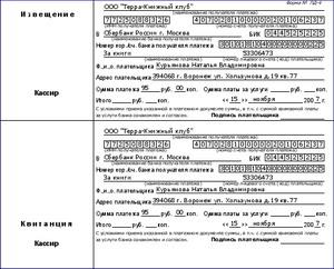 Квитанция на оплату форма пд-4 (картинка).