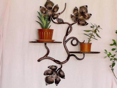 Подставки для цветов (фото). Полки и стойки напольные своими.