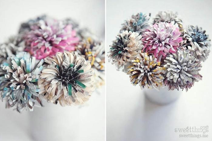 Букет цветов из бумаги - Самодельные