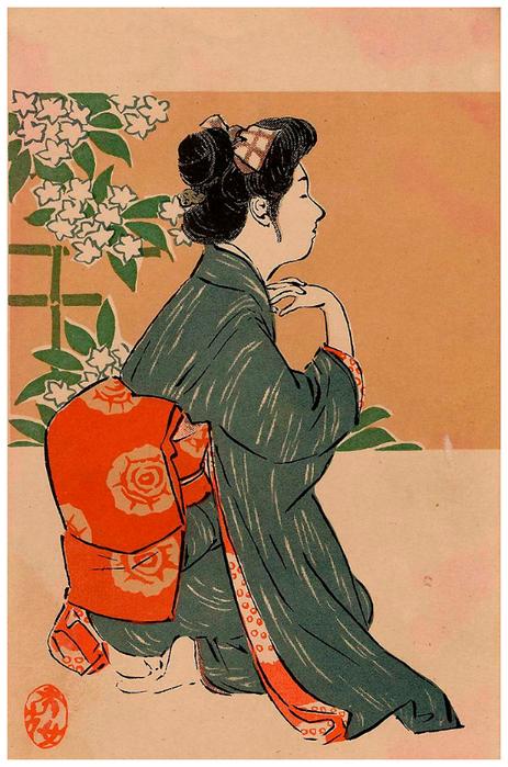 Япония открытки, начало учебного года