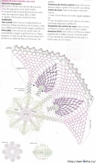 Анютины глазки крючком. Шторка для кухни и цветочная композиция (10) (414x700, 217Kb)