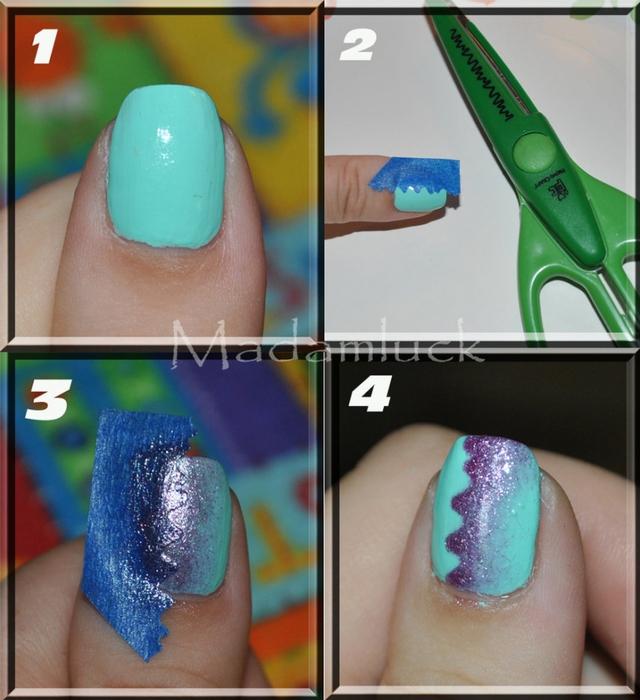 Как накрасить ногти узорами фото поэтапно