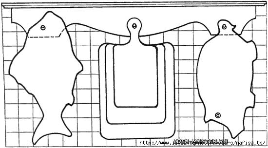 Самодельный оригинальный набор из кухонных разделочных досок