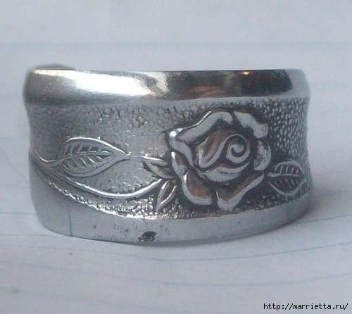 Как сделать кольцо из серебряной ложки (12) (500x446, 83Kb)