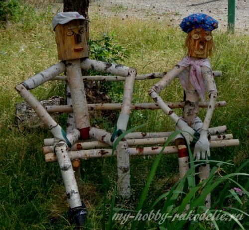 Деревянный человечек для сада своими руками - Моя дача 98