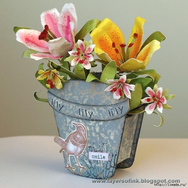Открытка цветы в горшке мастер класс, день