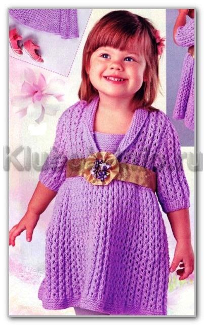 схемы вязания спицами для детей до 3 лет
