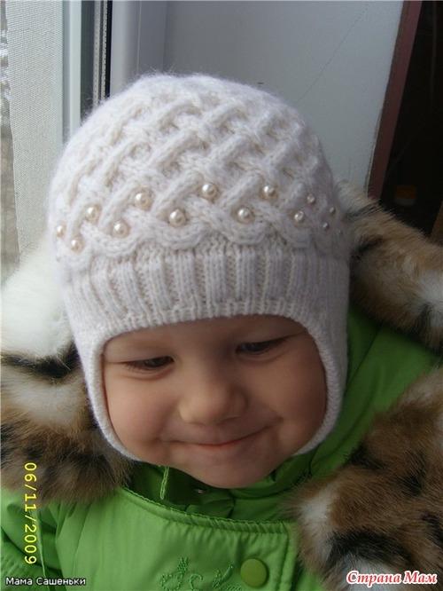вязание спицами для детей шапки для девочек зимние 31 тыс