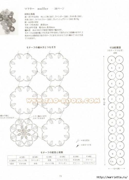 вязание ажурных узоров со схемами