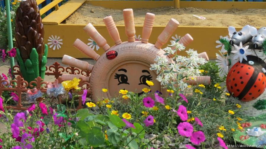 Фото поделок своими руками для оформления двора