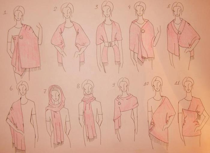 21 вариант ношения палантина