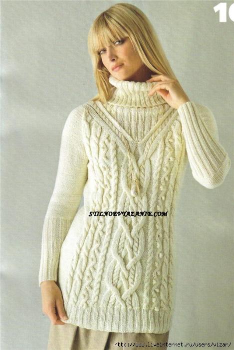 вязание спицами свитера модели 3 марта 2015 Blog Hecateheei