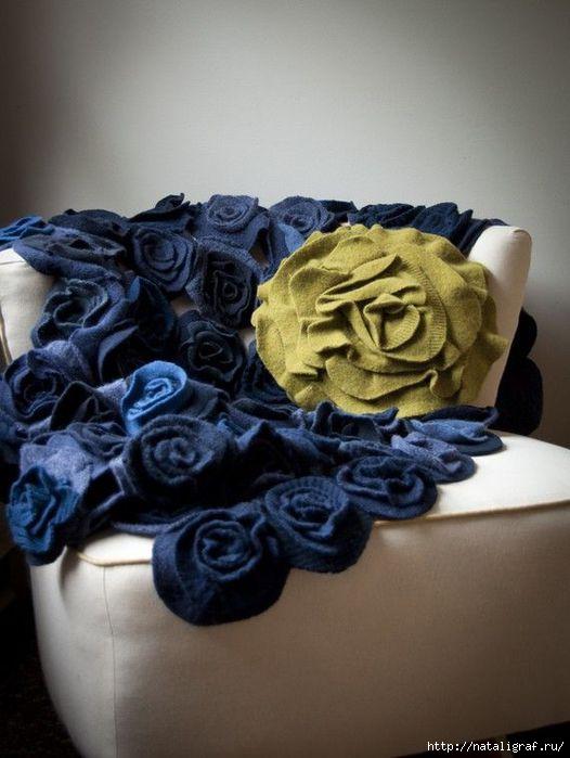 Выкройка цветов из ткани своими руками - Выкройка