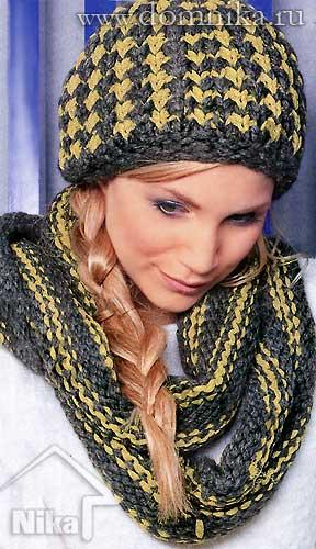 шапка из толстой пряжи вязание спицами обсуждение на Liveinternet