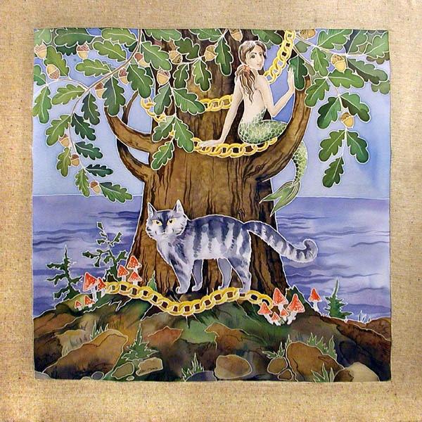 картинка у лукоморья дуб зеленый златая цепь на дубе ненужных вещей можно