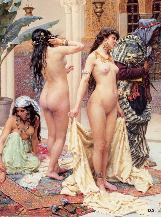 Giulio_Rosati Sélectionnant la favorite  Huile sur toile (521x700, 490Kb)