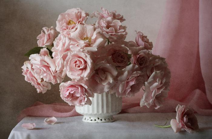 Натюрморты Розовые розы 2171103 (700x461, 185Kb)