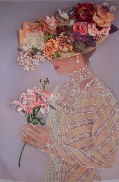 лиру Татьяна вышивка лентами41 (457x699, 364Kb)