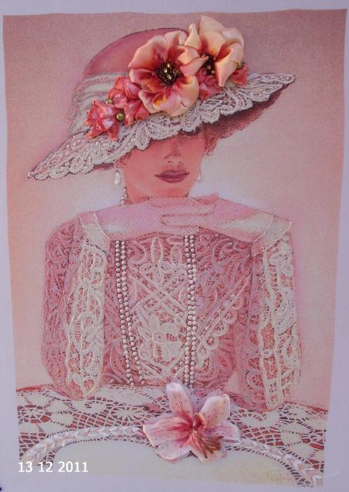 лиру Татьяна вышивка лентами31 (497x700, 405Kb)