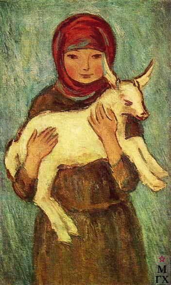Девочка с козленком. 1929 (352x587, 74Kb)