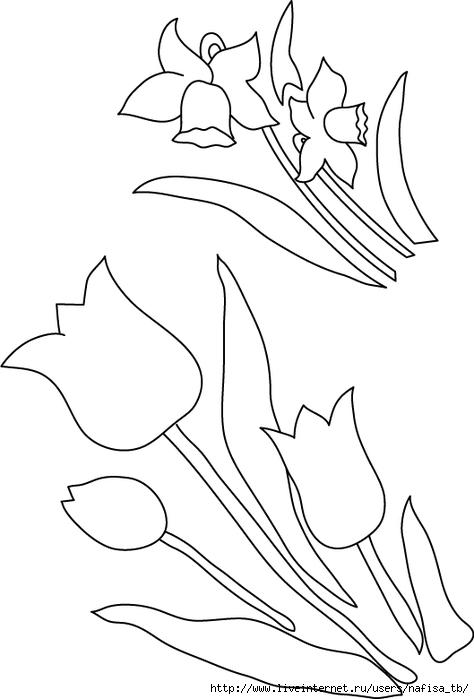 Шаблон цветка для открытки 9 мая