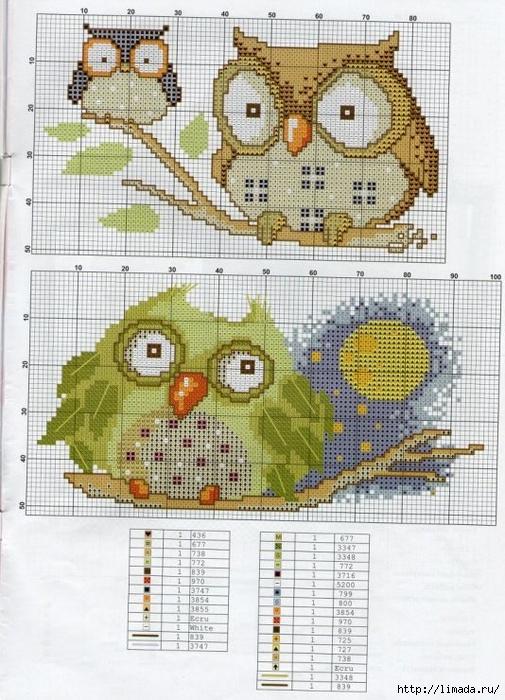 Схема с петушками / Вышивка / Схемы вышивки крестом - Pinterest 38