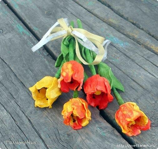 Цветы из соленого теста пошагово фото