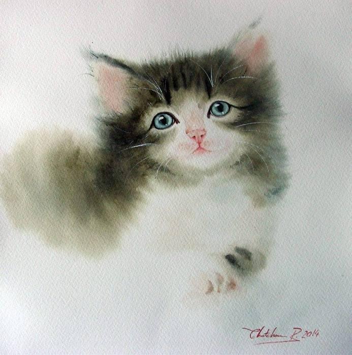 Watercolor by Chatchawarn Ruksa2 (693x700, 67Kb)