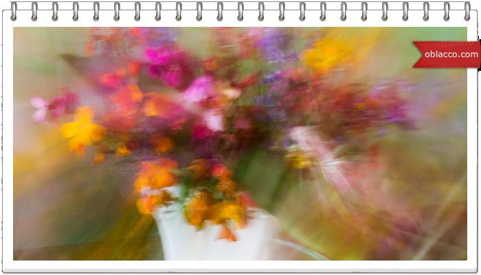 Ваза для цветов в японском стиле из рогожки, на скорую руку