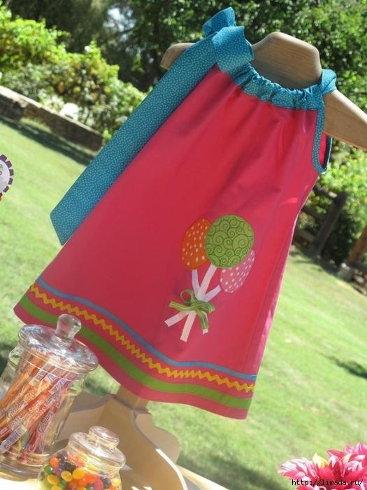 Платье для девочки нарядное 2 года с выкройками фото 480