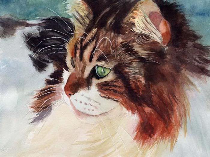 Кошачьи акварели Rachel Parkerx_56c24544 (700x525, 128Kb)