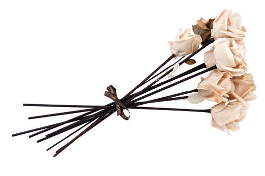 Чайные розы из кофейных фильтров. Мастер класс