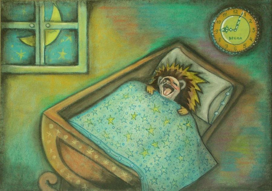 Ежиха на работе спит открытки, кленовых