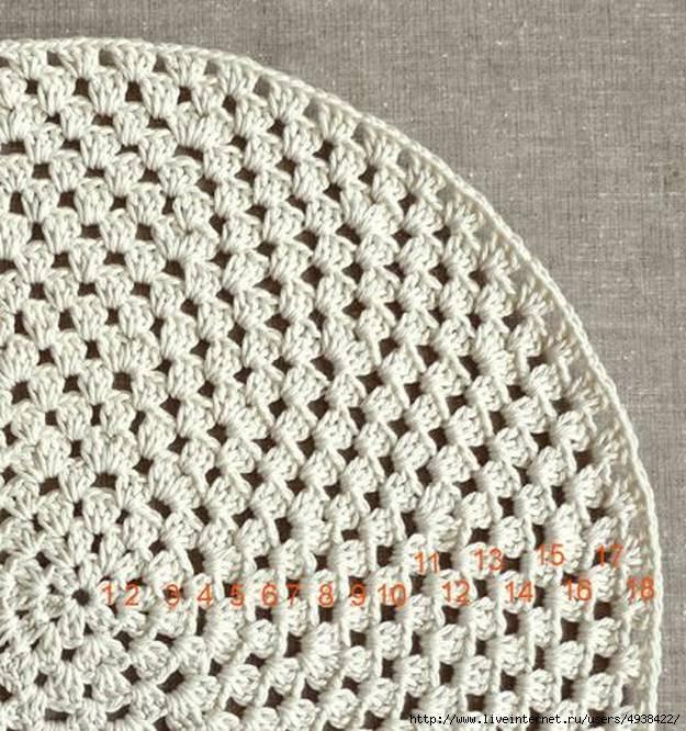 Как вязать коврики крючком для начинающих: квадратные Вязание круглых ковриков крючком для начинающих