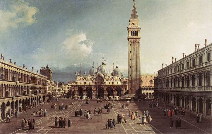 Piazza_San_Marco_with_the_Basilica,_by_Canaletto,_1730 (698x443, 50Kb)